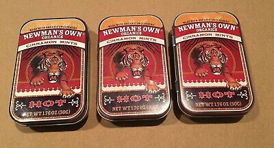3 EMPTY Newman's Own Metal Mint Tins - Craft Sewing Storage