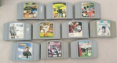 10 Spiele für Nintendo 64 / N64 u.a Mickeys Speedway USA, Glover, Snowboard Kids