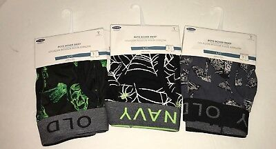 NWT - Boys Boxer Briefs Prints Size Large by Old Navy Lot Set of 3 Halloween ](Old Navy Halloween Boxers)