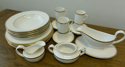 Spode 'Eternity Gold' Bone China Dinner Set- Cups/Plates/Bowls/Jugs