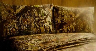 New 2 pc CAMO~PILLOW CASE SET~Fishing~Hunting Cabin~LODGE Brown Tans camouflage for sale  USA