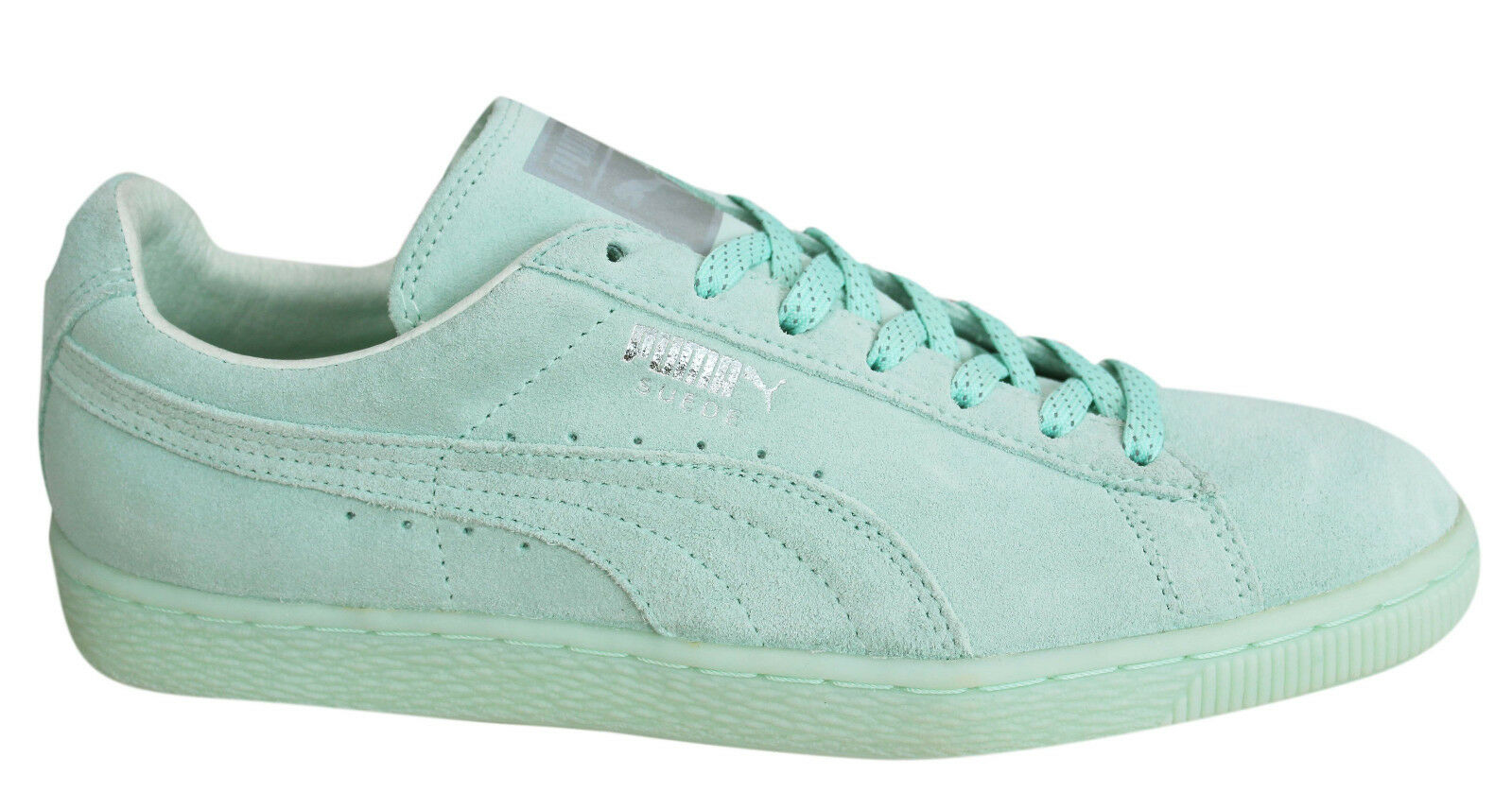 818511195e Puma Suede Classic Mono Ref Iced Mens Trainers Lace Up Shoes Mint ...