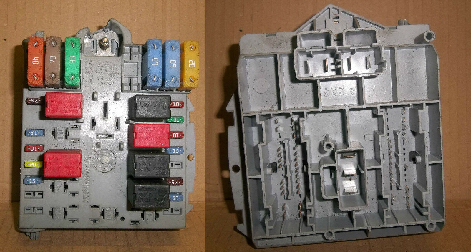 FIAT PUNTO 1999-2006 NON SPORTING EXTERNAL ENGINE BAY FUSE BOX