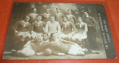 F.K. Deutsche Sportbrüder I.B. Prag Fußball AK Herbst Saison 1912 Pragae