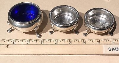 Sterling Silver Footed Salt Dish Cellar (3)