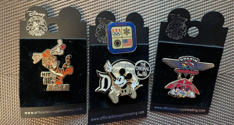 Disney Official Pin Trading Lot Of 3 - FREE SHIPPING