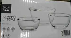 Set of 3 Glass mixing bowls Homebush Strathfield Area Preview