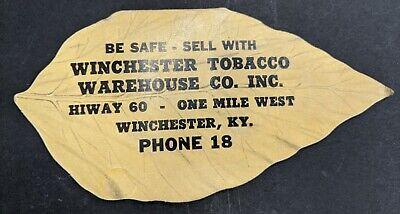 Winchester Tobacco Advertisement Antq Vntg Sewing Kentucky Epherma Memorabilia