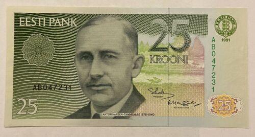 Estonia 25 Krooni 1991 UNC