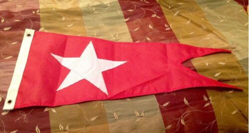 WHITE STAR LINE BURGEE FLAG PENNANT TITANIC OLYPMIC MARITIME NAUTICAL DISASTER