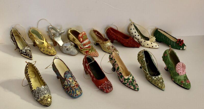 Lot of 14 Metropolitan Museum of Art Shoe MMA Christmas Ornaments