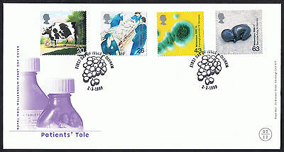The Patients' Tale 1999 First Day Cover - SG2080 to SG2083 Oldham Cancel