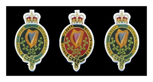 Set of 3 different obsolete Irish Police Patches - Ireland  L111