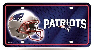 New England Patriots Helmet Design Metal Tag Aluminum License Plate Football
