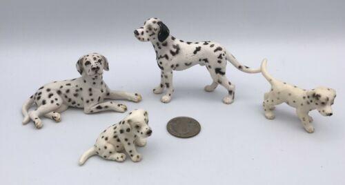 Schleich Dog DALMATIAN FAMILY Male Female Puppy Animal Dog Figures Retired