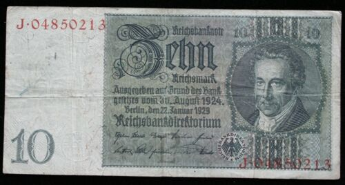 Banknote Germany 10 Reichsmark 1929