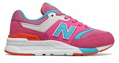New Balance Kid's 997H Little Kids Female Shoes Pink with Blue