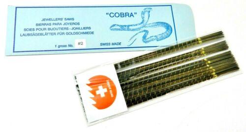 Swiss Jewelry Making Saw Blades COBRA # 2 Saws Jewelers Piercing 1Gross -(144)