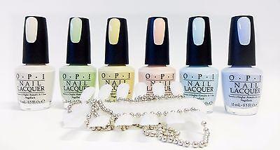 Pastel Color Palette (OPI Nail Polish Color PASTEL Collection T71 to T76 ~6ct ~ + 1 Color)