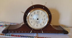 Seth Thomas Ships Wheel Nautical No. 3666 Stellar Mantel Clock Case Only Compass