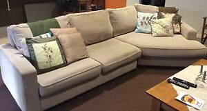 Freedom Furniture Beige modular 3 seater lounge with chaise Mount Barker Mount Barker Area Preview
