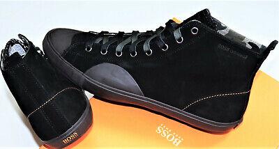 Hugo Boss Connec  Sneaker Gr. 45  Leder Chucks Herren UK 11 US 12 Schwarz Schuhe