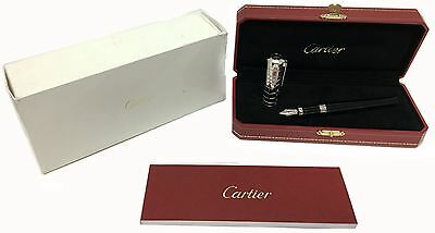 Cartier Art Deco Crocodile Scales Decor Fountain Pen ST260026 - Open Box ***
