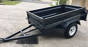 NEW AUSSIE BUILT 7x5 HEAVY DUTY BOX TRAILERS WITH NEW TYRES & RIM Toowoomba Region Preview