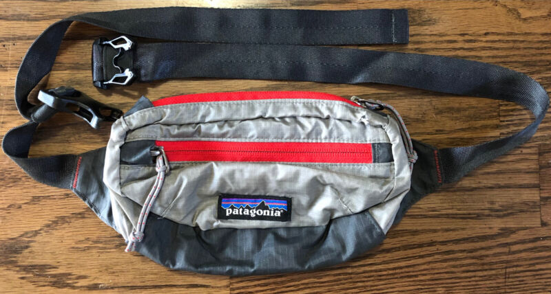 Patagonia Lightweight Travel Mini Hip Pack Fanny Waist Bag Gray Red