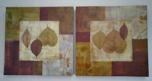 Home Decor | Hanging Wall Art: Leaf Print (2 Piece Set)