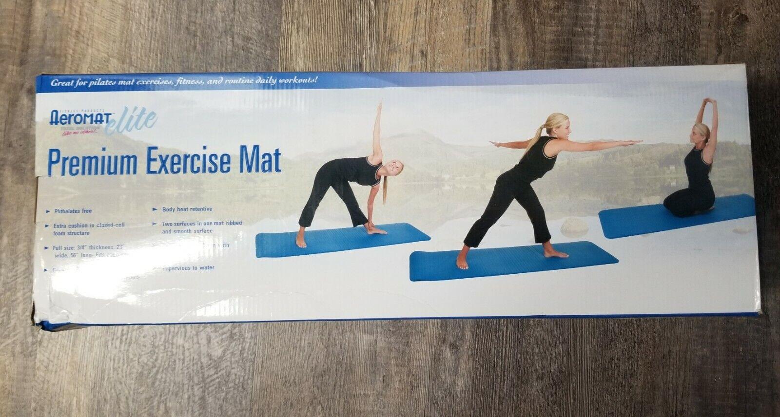 "New Aeromat Elite Premium Exercise Pilates Yoga Mat 3/4"" Thi"