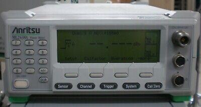 Anritsu Ml2438a Rf Power Meter Cw Power Meter Dual Input
