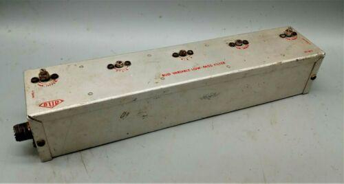 Vintage BUD Variable Radio Low Pass Ham Amateur Radio Filter LF-601