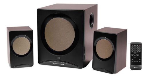rock media home computer speakers subwoofer bluetooth