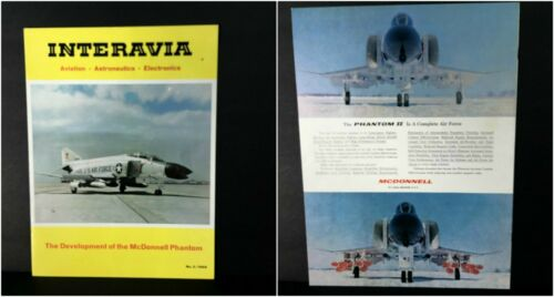 Vintage 1966 #5 INTERAVIA Magazine Development of McDONNELL PHANTOM F4 & II USAF