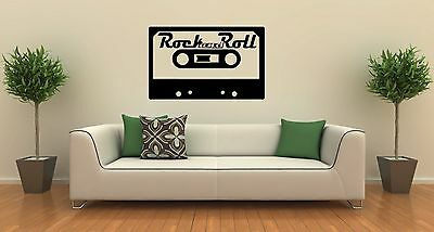 Wall Stickers Vinyl Decal Cassette Rock'n'roll Music Decor for Room (ig1065) (Rock N Roll Room Decor)