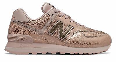 New Balance Women's 574 Worn Metallic Shoes Pink