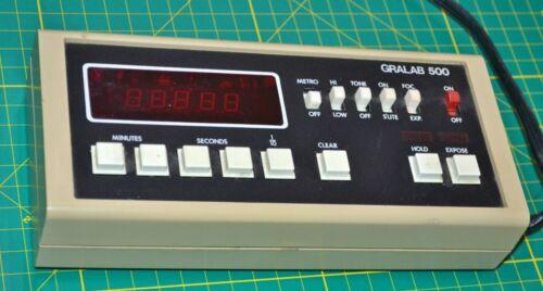 Gralab Model 500 Digital Darkroom Timer / Enlarger Timer Tested And Working