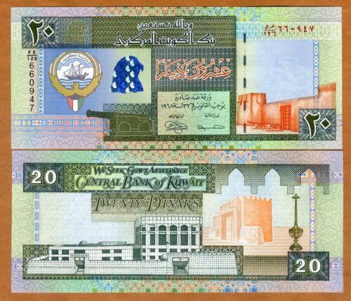 Kuwait, 20  Dinar, L. 1968 (1994), P-28 UNC