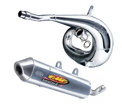 FMF Exhaust System - Gnarly Pipe & TurbineCore2 Silencer - Suzuki RM250 - 04-08