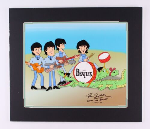 THE BEATLES Saturday Morning Beatles 21x18 Animation Cel signed by Ron Campbell