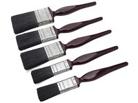 Brand new 5pc synthetic no bristle loss paint brush set,cost £11.95, bargain at £5