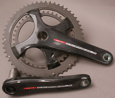 Campagnolo Record H11 Carbon Crankset 175mm 36/52 Chainrings 11 Speed MSRP $720 Campagnolo Record Ultra Torque Carbon