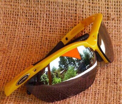 ALPINA Kinderbrille Ceramic Mirror, gelb, mit leichtem Kratzer auf einer Scheibe