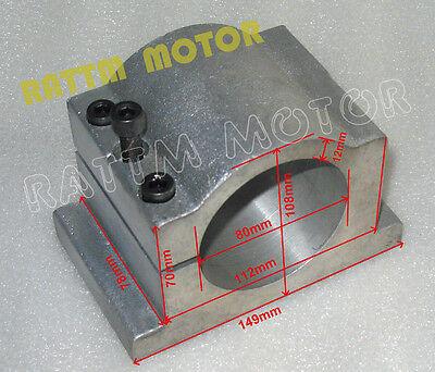 80mm Diameter Aluminum Spindle Motor Clamp Mount Bracket Screws For Cnc Router