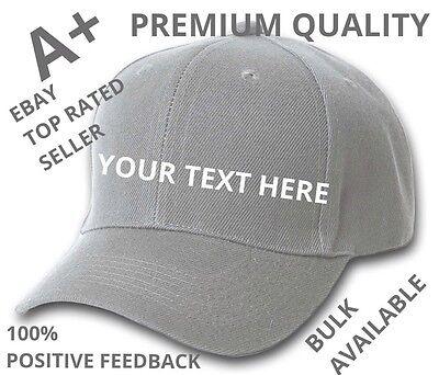 CUSTOM PERSONALIZED Dark Gray Baseball Hats Caps - Personalized Baseball