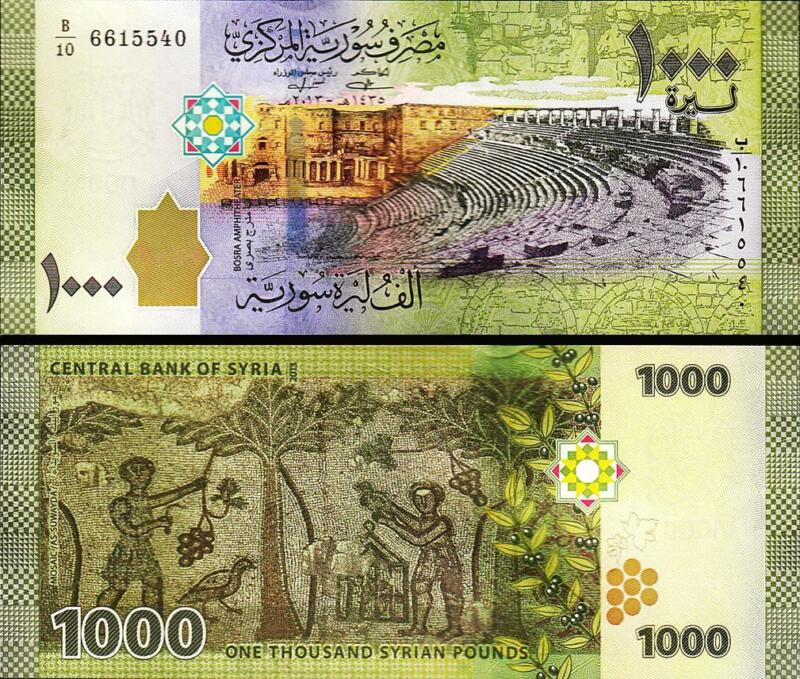 SYRIA 1000 1,000 POUNDS 2013 UNC P-116