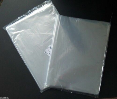 "500 9 X 12"" Poly Clear Plastic Bags Open Top End Lay Flat 1 Mil"