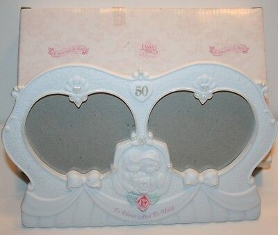 Precious Moments 50 Anniversary 2 Heart Photo Frame Have and To Hold In Box