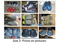 boys shoes size 2 prices on pictures from a smoke and pet free home £25 the lot